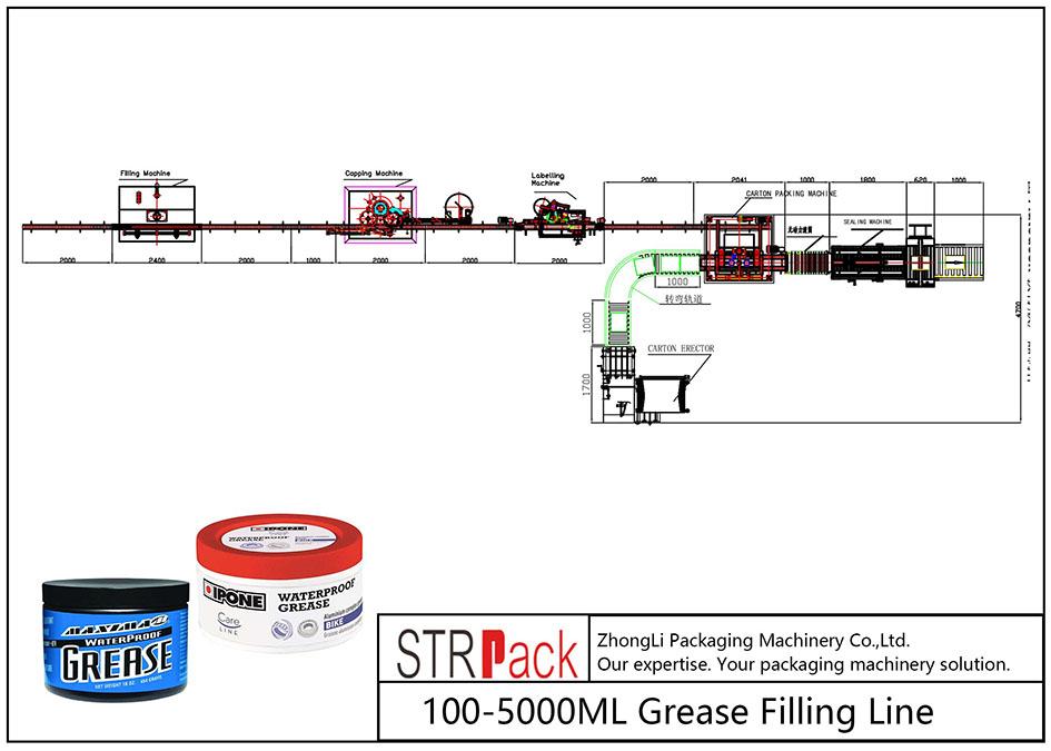 स्वचालित १००ML-LL ग्रीस फिलिंग लाइन