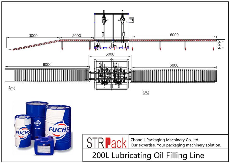 स्वचालित 200L चिकनाई तेल फिलिंग लाइन