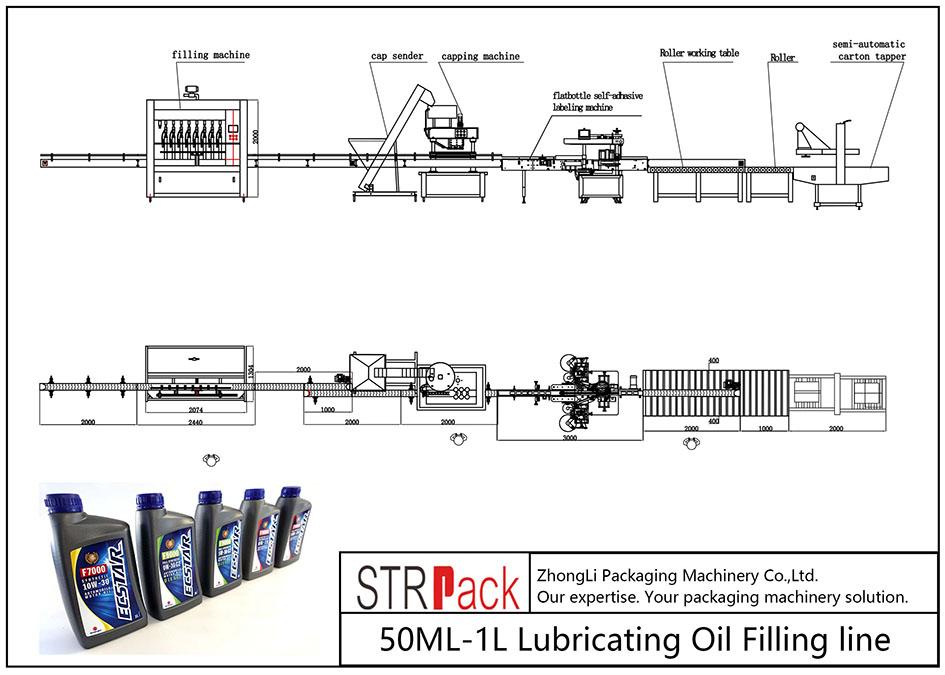 स्वचालित ML०ML-१L लुब्रिकेटिंग तेल भर्ने लाइन