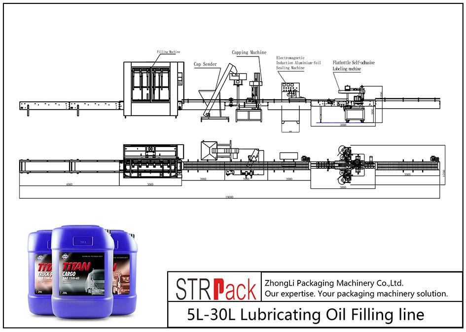 स्वचालित LL-L० एल लुब्रिकेटिंग तेल भर्ने लाइन