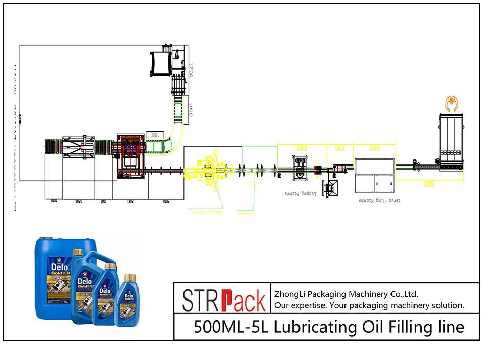 स्वचालित 500ML-5L लुब्रिकेटिंग तेल भर्न लाइन