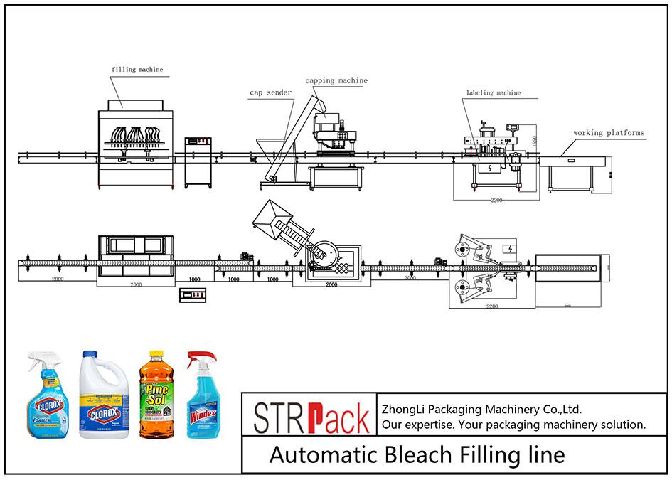 स्वचालित ब्लीच फिलिंग लाइन