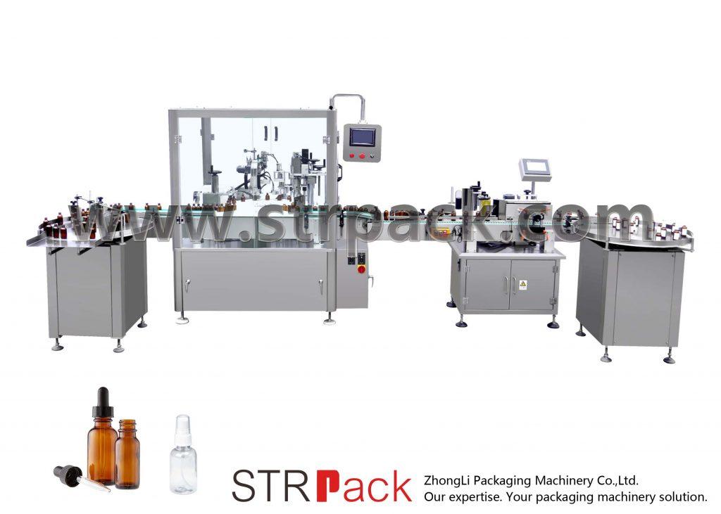 स्वचालित ड्रॉपर बोतल भरने र क्यापिंग मेशीन