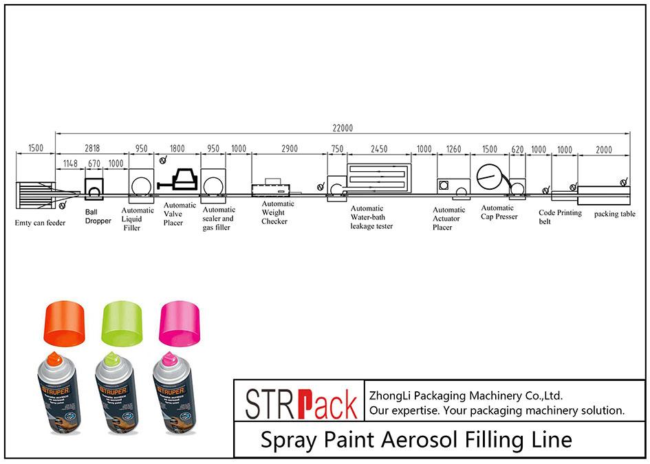 स्वचालित स्प्रे पेंट एयरोसोल फिलिंग लाइन