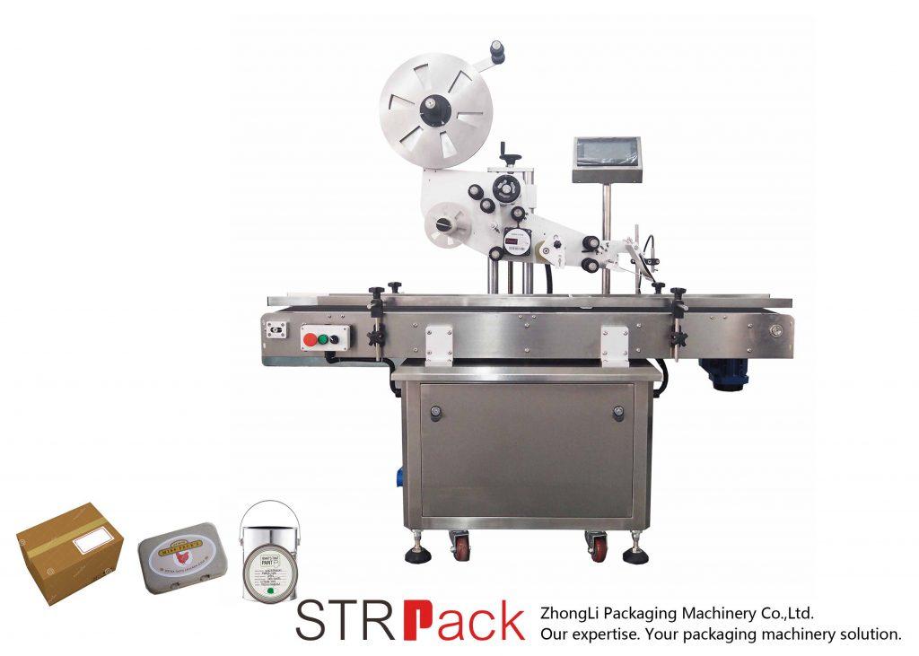 स्वचालित भर्टिकल प्लेन सेल्फ-चिपकने लेबलिंग मेशीन