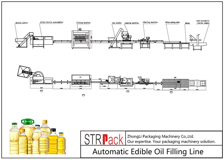 स्वचालित खाद्य तेल भर्ने लाइन