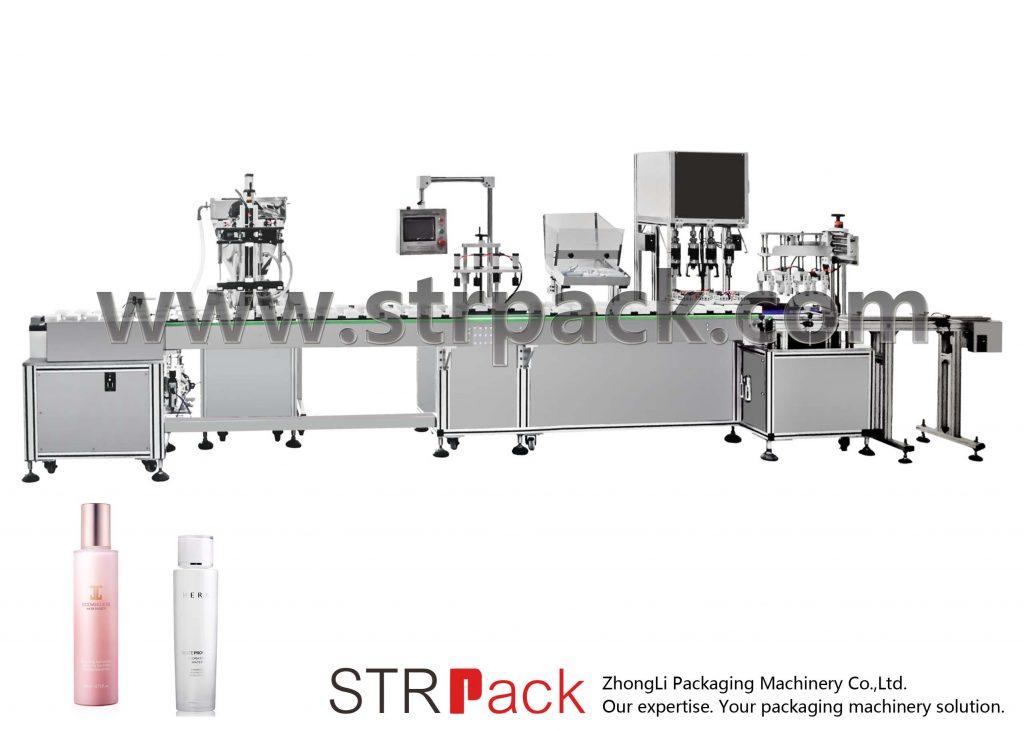 स्वचालित पानी इमल्शन भरने र क्यापिंग मेशीन