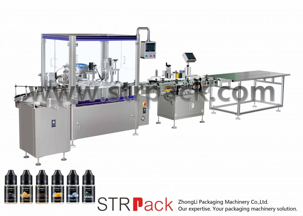 Oil Filling & Corking & Capping Machine